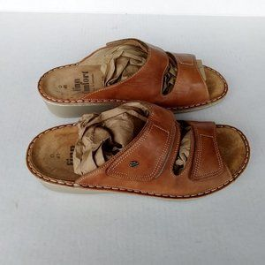 Finn Comfort Jamaica Sandals Tan Leather Sz D 41